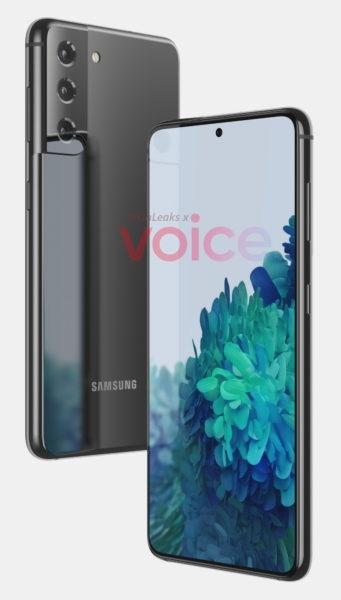 Samsung Galaxy S21 впервые показан на рендерах