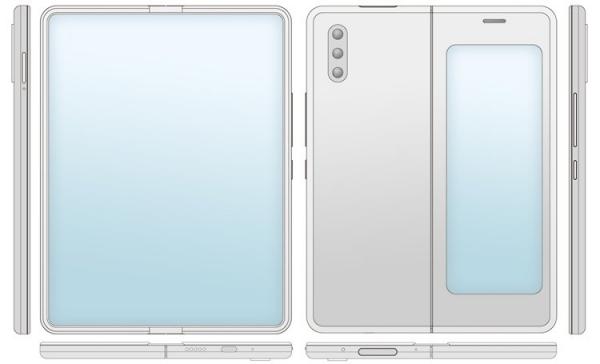 Xiaomi хочет снабдить гибкий смартфон-книжку двумя экранами