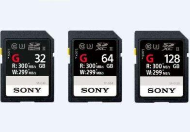Новые SD карты Sony SF-G позволяют записывать со скоростью 299 MBps