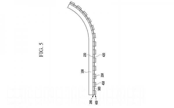 Новый патент Samsung для гибкой структуры дисплея показывает работу Flex OLED