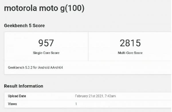Тесты смартфона Moto G100 с Snapdragon 870