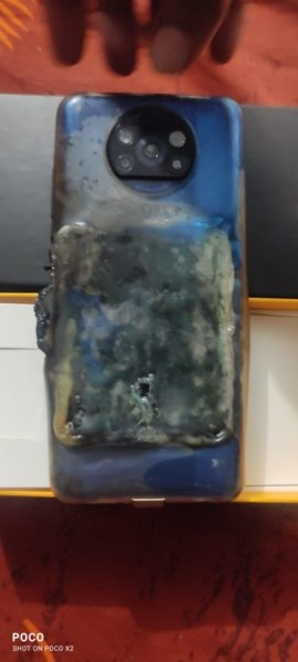 POCO X3 загорелся во время утренней зарядки