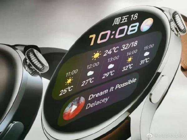 Смарт-часы Huawei Watch 3 на промо-рендерах