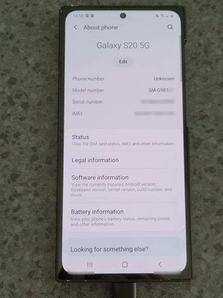 Секретный прототип Samsung Galaxy S20