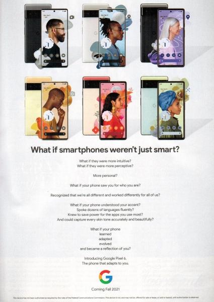 Google Pixel 6 засветился в популярном журнале