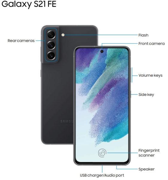 Руководство по Galaxy S21 FE подтвердило дизайн и показало спорные особенности
